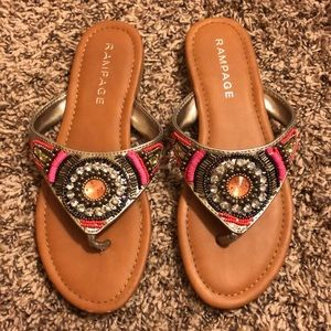 Jeweled and Beaded Rampage Sandals